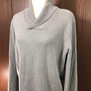 Theory Gray Sweater Size Large 100% Merino Wool